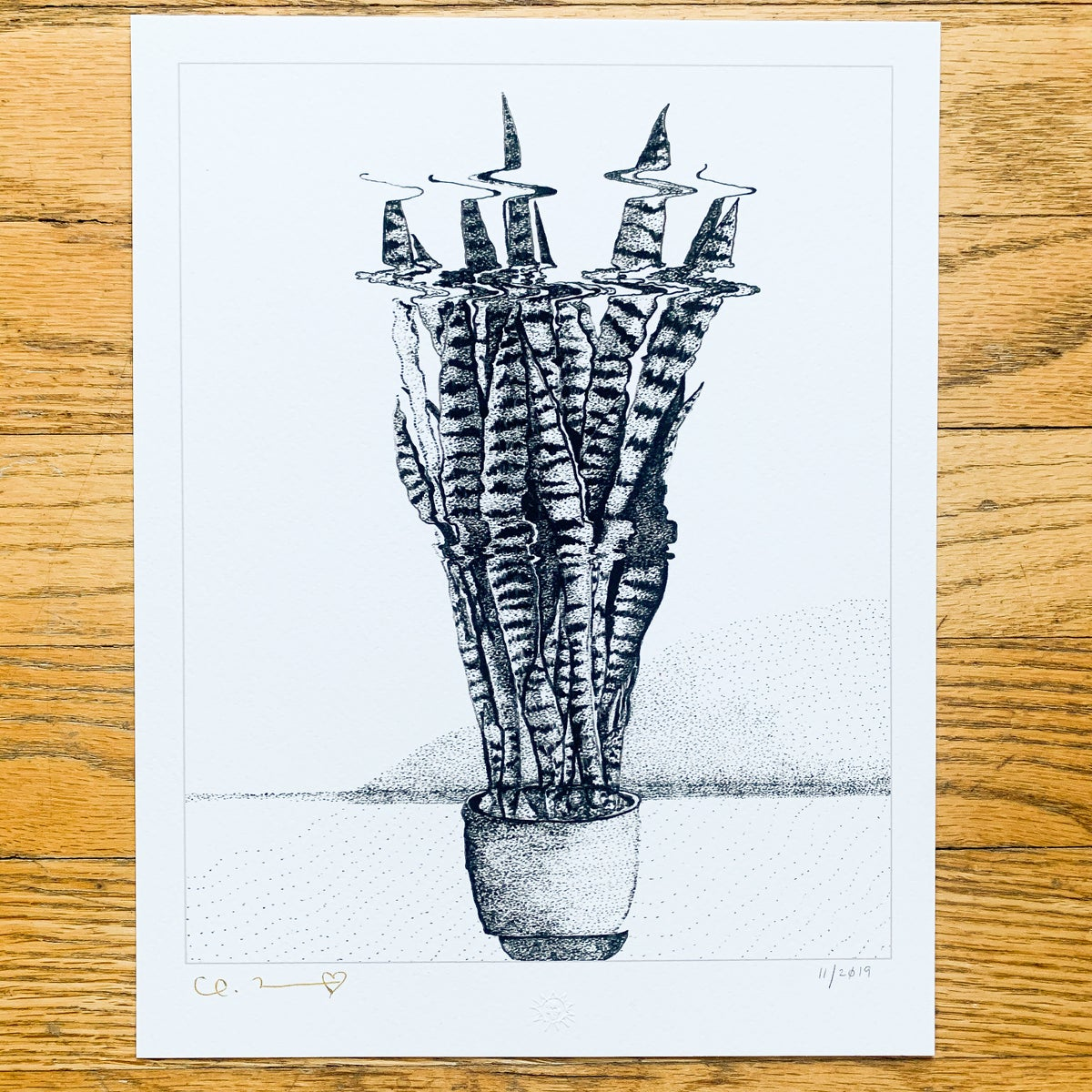"Image of ""Snake Plant"" 8.5""x11"" Giclee Fine Art Print"