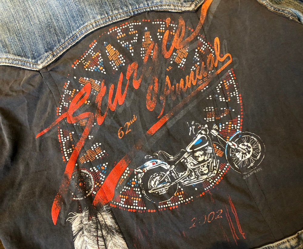 STURGIS 2007 repurposed denim jacket