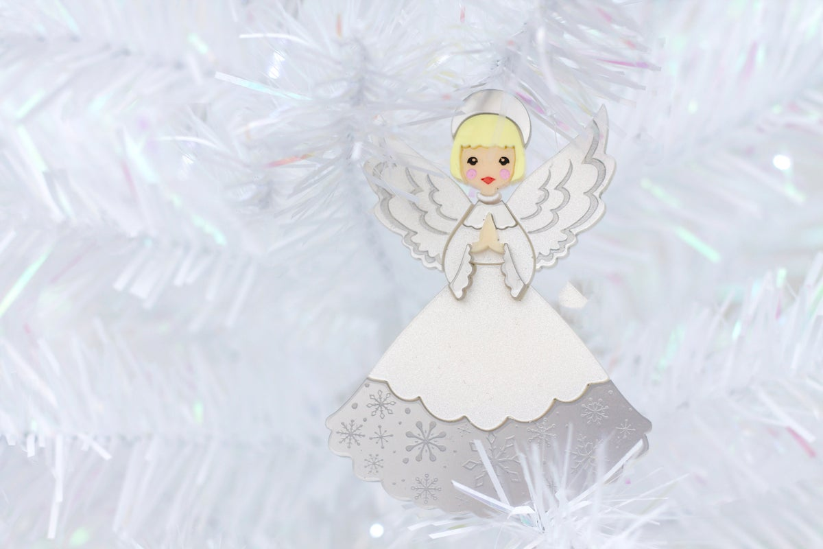 Image of Retro Christmas Angel Brooch