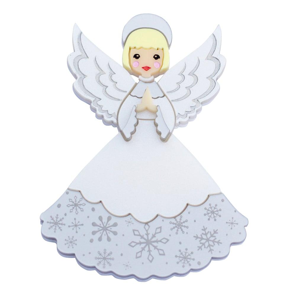 Image of Retro Christmas Angel Brooch