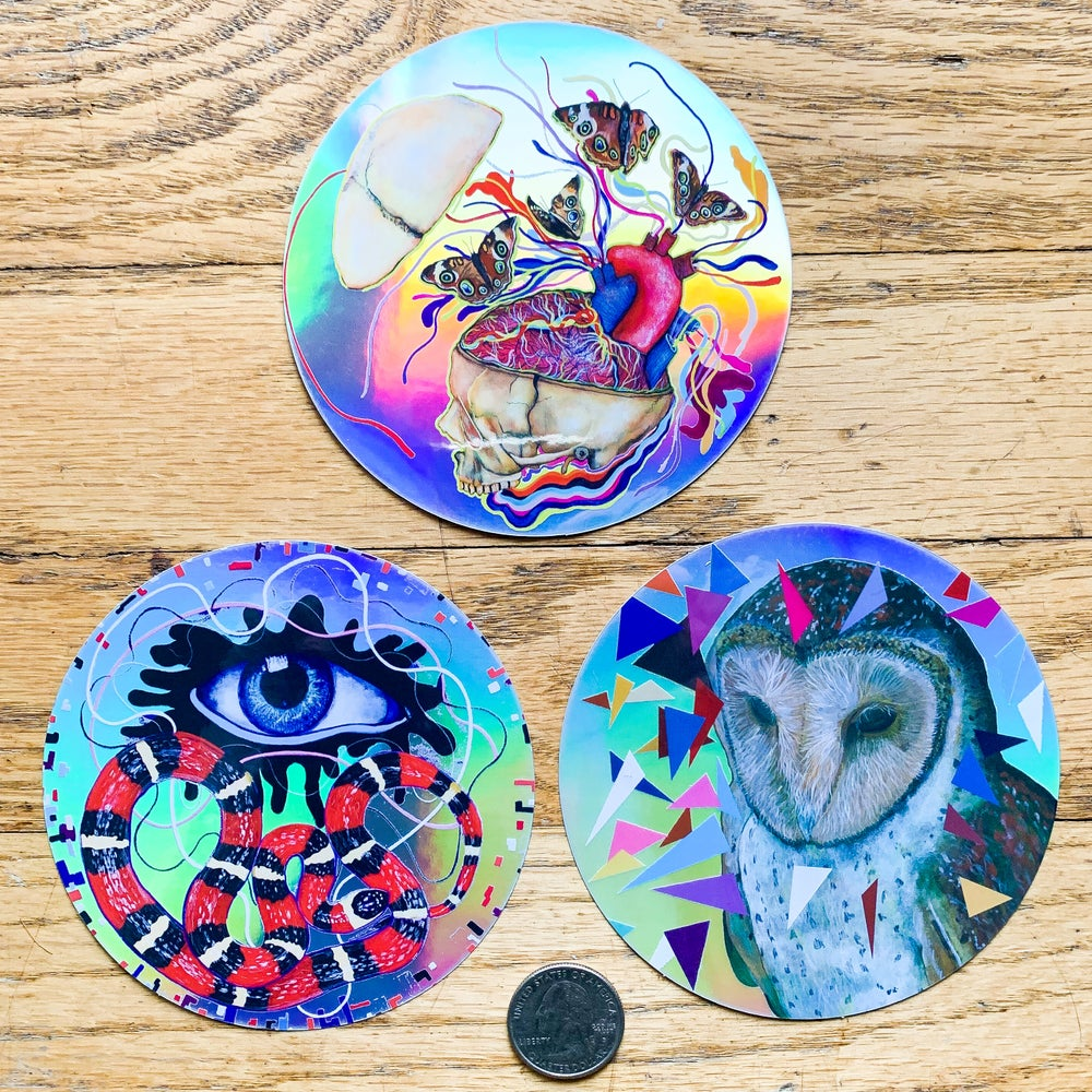 Image of Large Holographic Sticker Set II