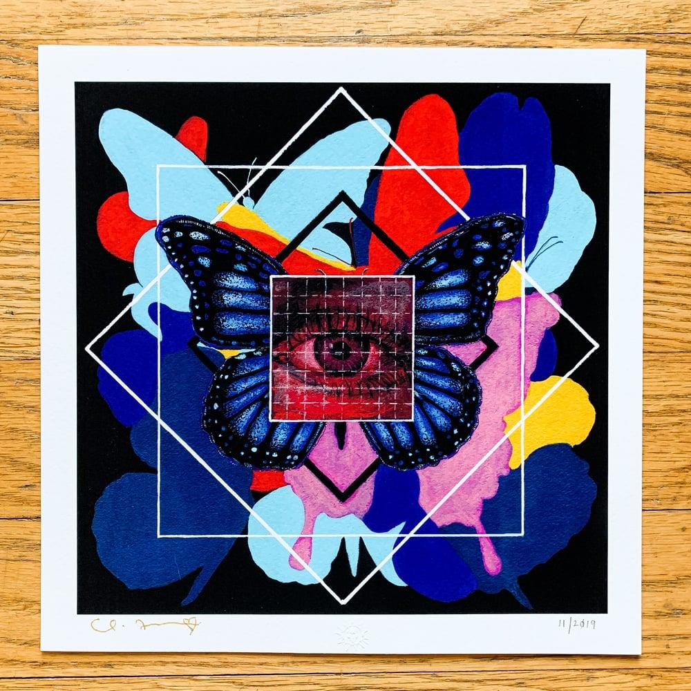 """Image of """"LSD-25"""" 8.5""""x8.5"""" Giclee Fine Art Print"""