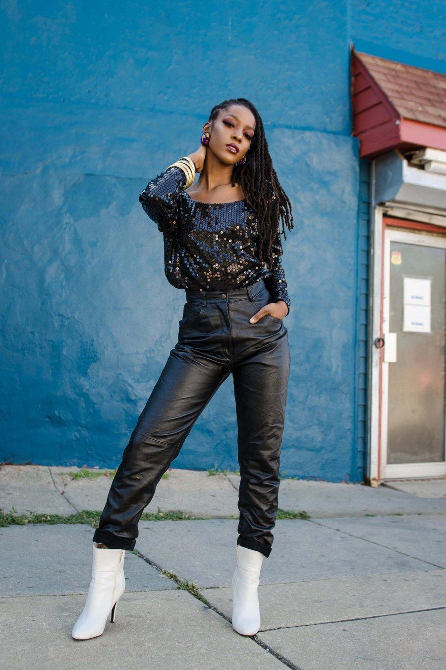 Image of Vintage Black Magic Sequin Bodysuit
