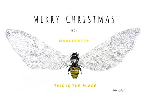 Image of Bee Love   This is The Place   Christmas Card
