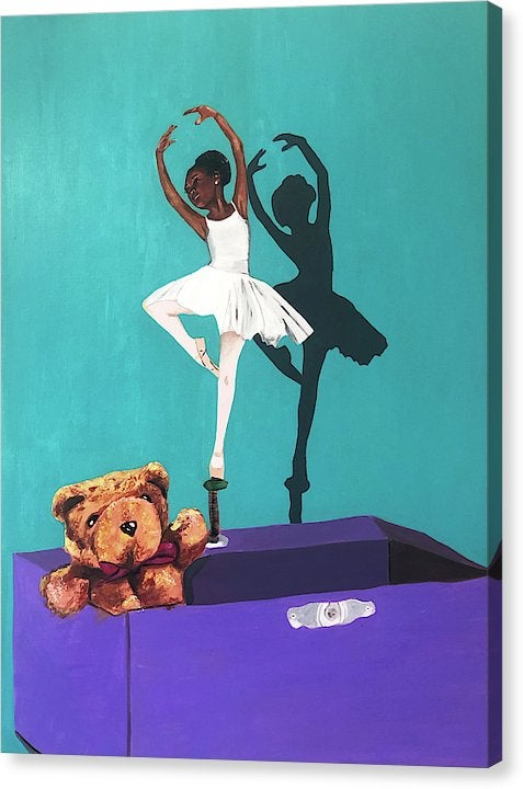 "Image of ""Ballerina Music Box"" Original Painting"
