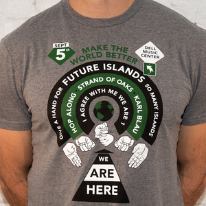 Image of Future Islands Benefit Concert Grey Tee
