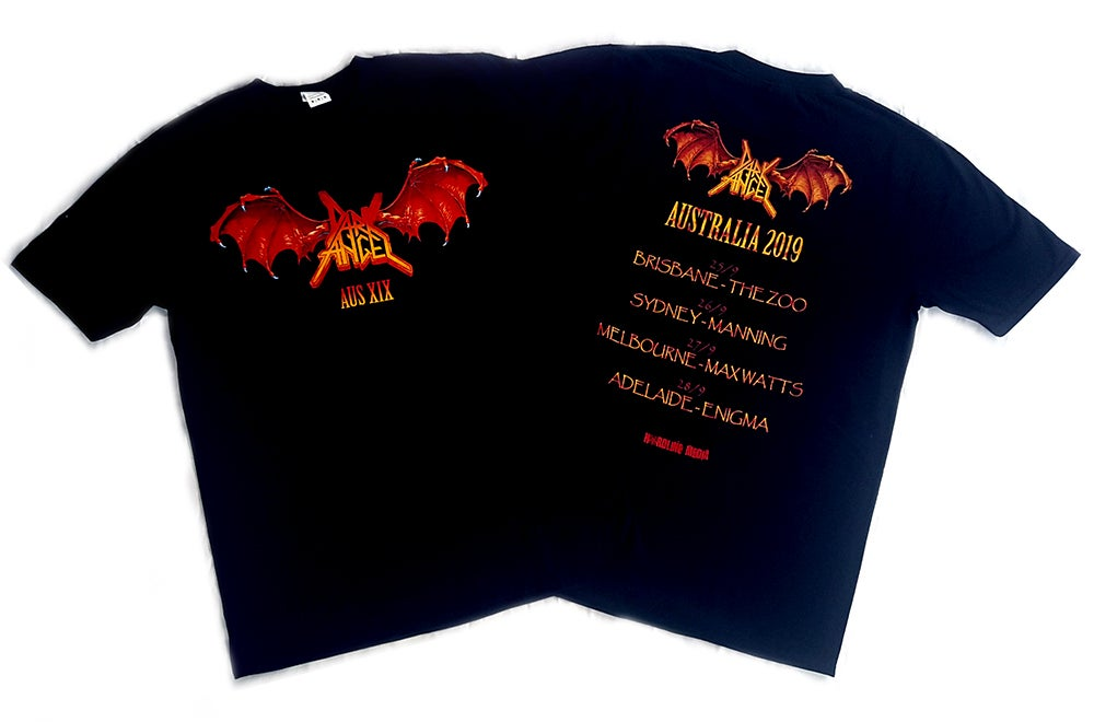 Image of T'SHIRT - Dark Angel 'Winged' Logo Australian Tour 2019