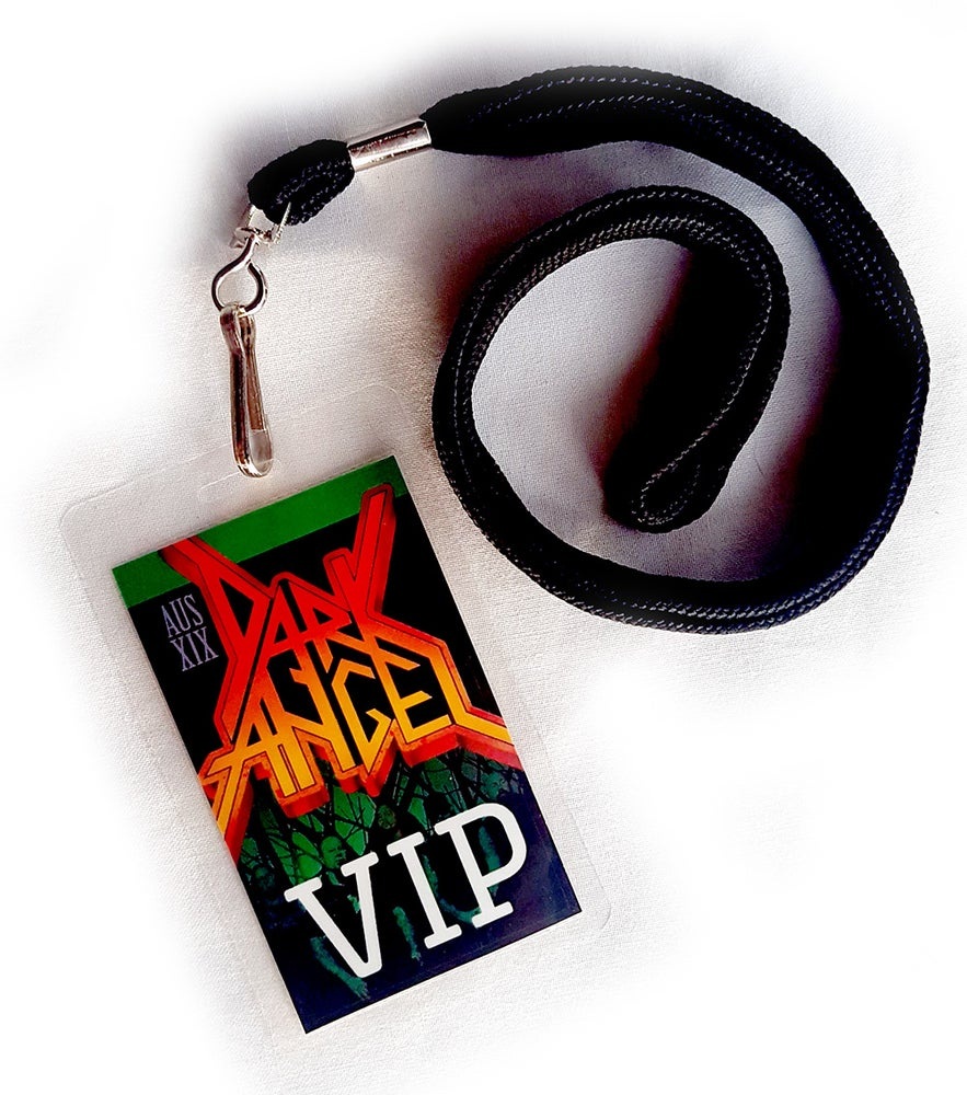 "Image of VIP LAMINATE - Dark Angel ""Darkness Descends Down Under"" Australian Tour 2019"