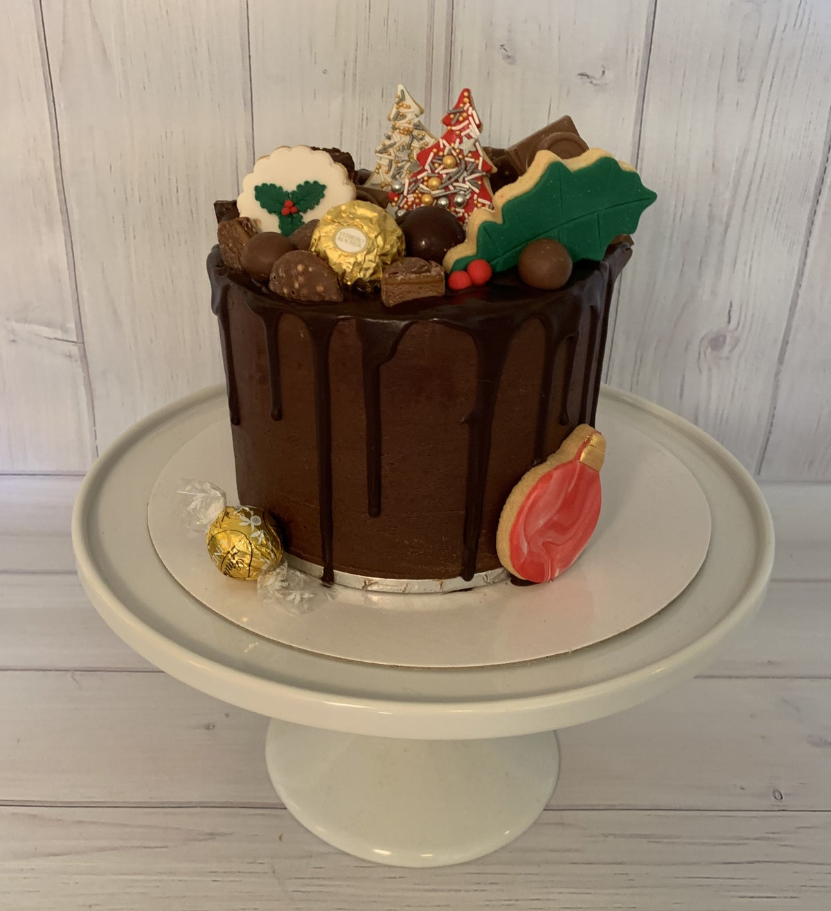 Image of Christmas Chocolate Drip Cake