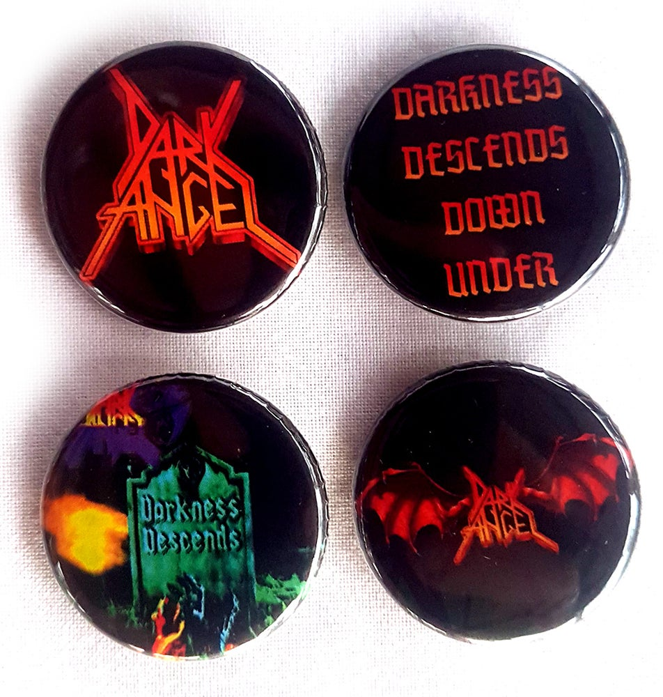 Image of BUTTONS/ BADGES (Set of 4) - Dark Angel - Australian Tour 2019