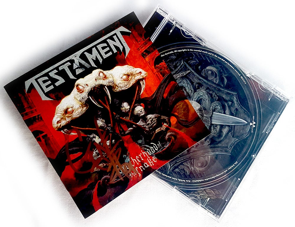 Image of CD (SIGNED) - Testament 'Brotherhood of the Snake'
