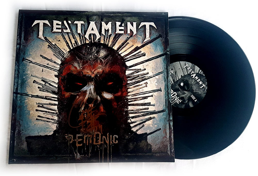 Image of TESTAMENT - Demonic - Vinyl LP Autographed