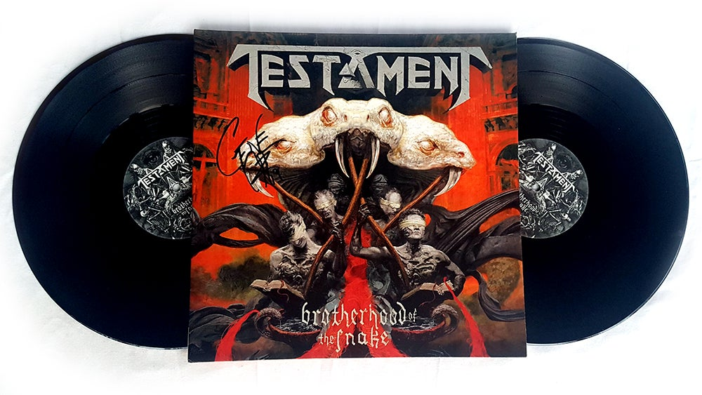 Image of DOUBLE LP / VINYL (SIGNED) - Testament 'Brotherhood of the Snake'