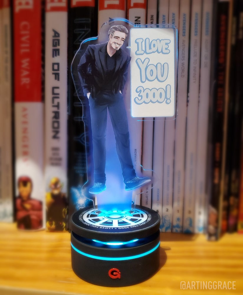 Image of [LED Acrylic Stand] Hologram Tony Stark