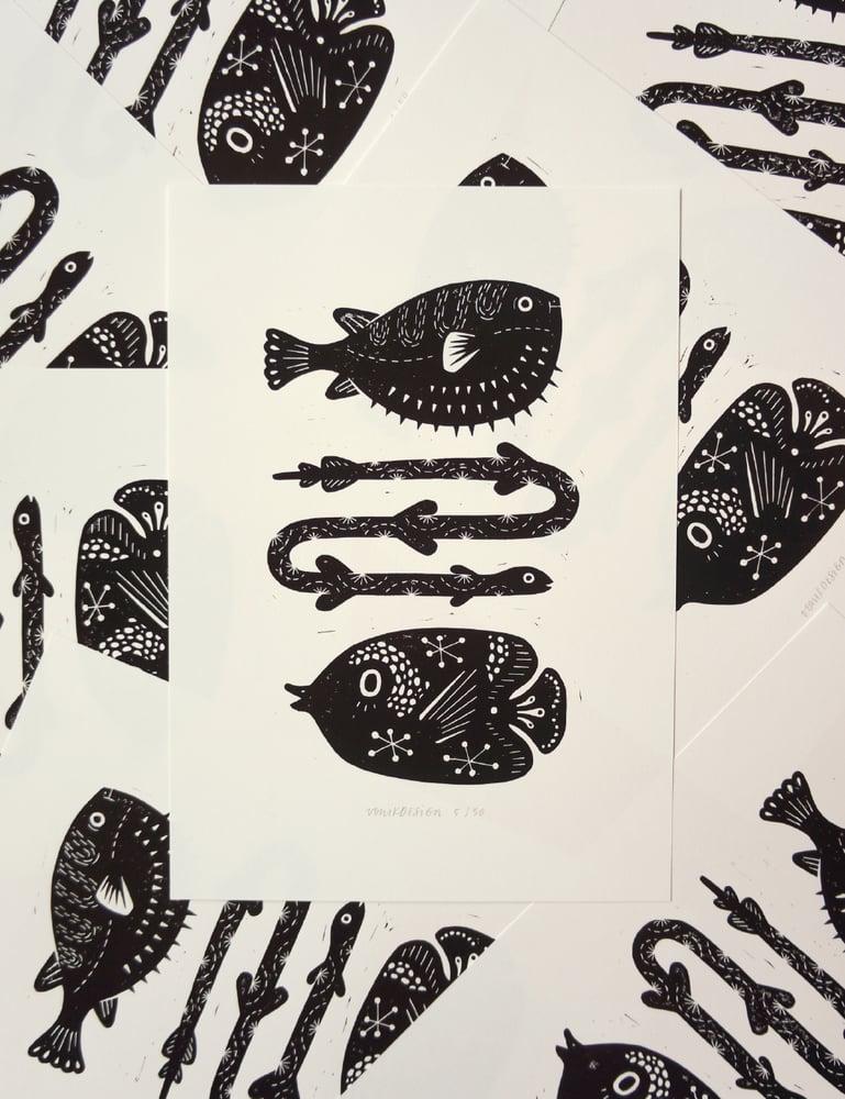 Image of Hello Fishies (25x35cm)