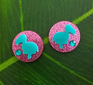 Image of 8 Colors - Flamingo Cutie Sparkles Earrings