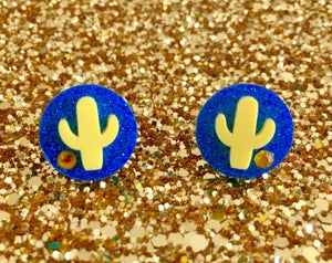 Image of Cactus Cutie Sparkles Earrings
