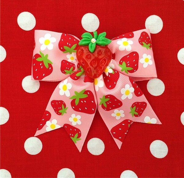 Image of Strawberry Explosive Delight Hair Bow
