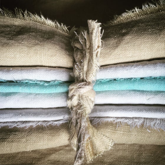 Image of Plant dyed linen cloth napkin
