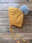 Image 3 of Mustard Bonnet | Gray Pom