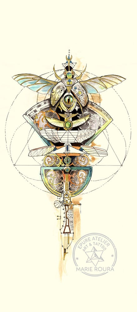 Image of Steampunk Scarab (small print)