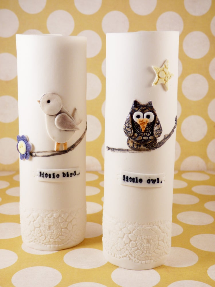 Image of Bird and Owl Vases
