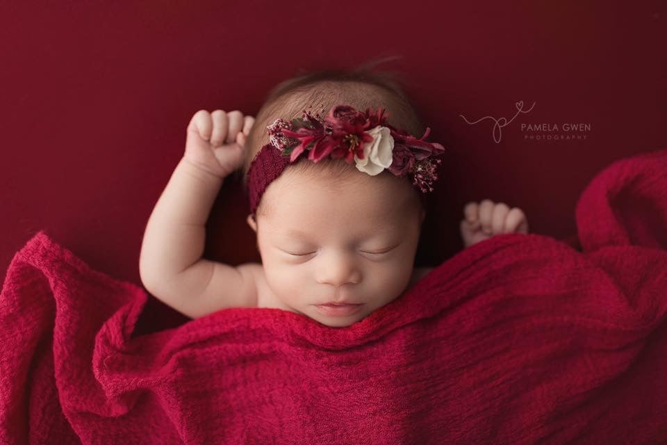 Image of { BRIELLE } CHERRY BERRY FUZZY KNIT BACKDROP