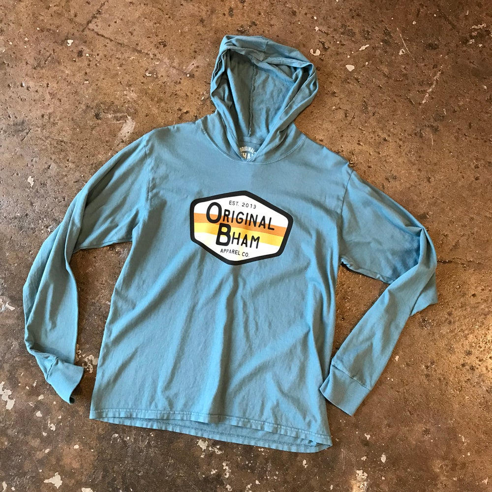 Image of Surf Logo Hooded Tee  - Teal