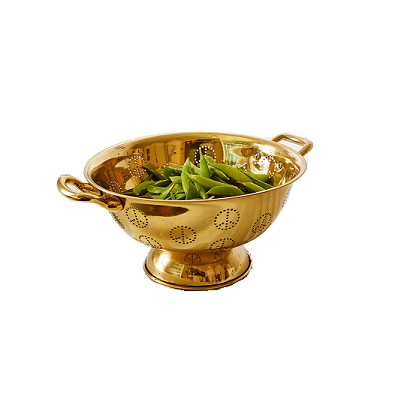 Image of Brass Peace Sign Colander