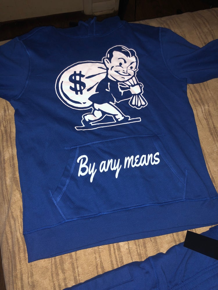 Image of BY any means blue hoodie