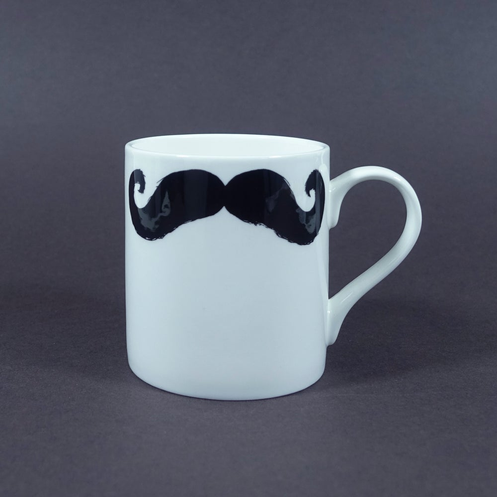 Image of The Inspector Poirot & Maurice Moustache Mug
