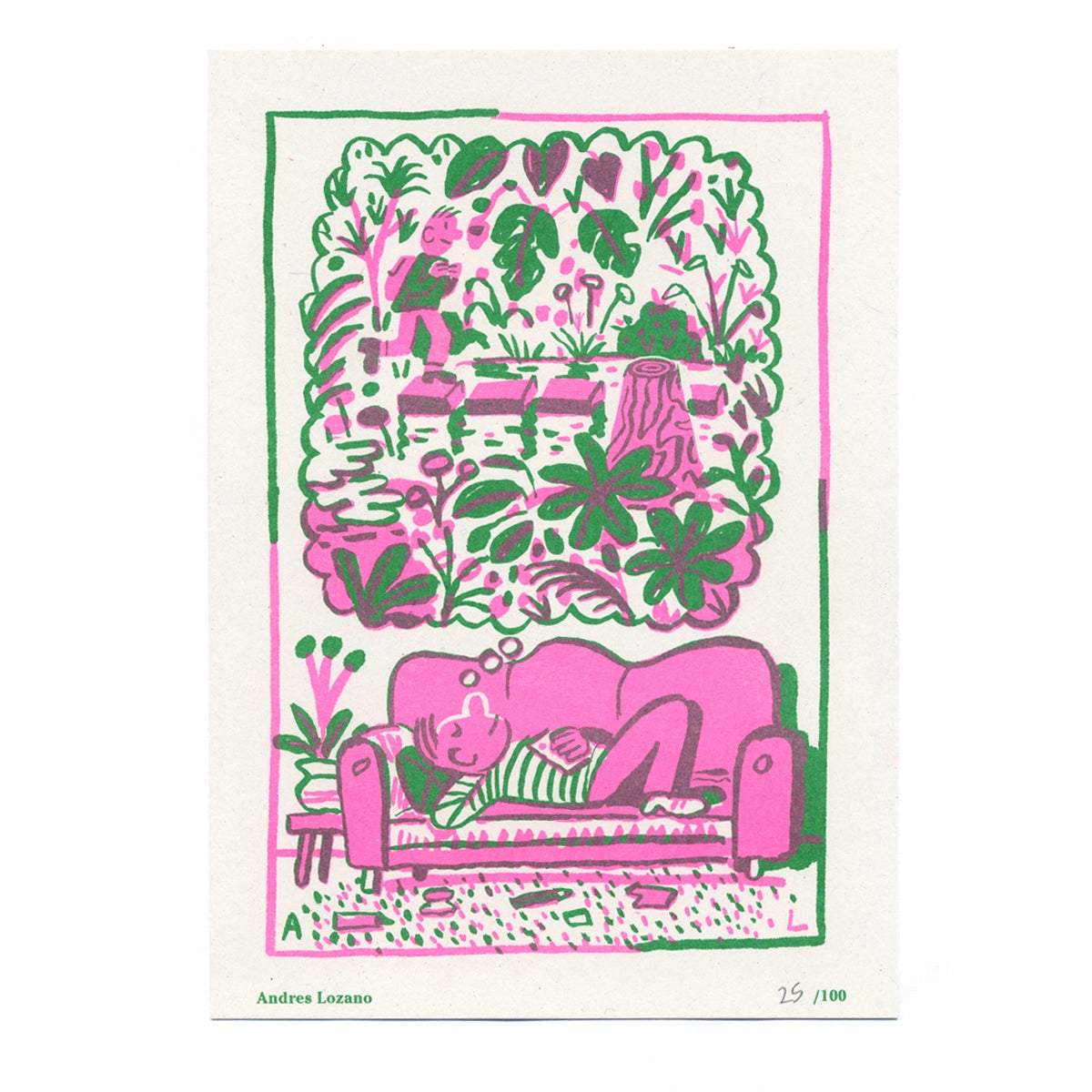 Image of Andres Lozano - Seed Artist Series Riso Print
