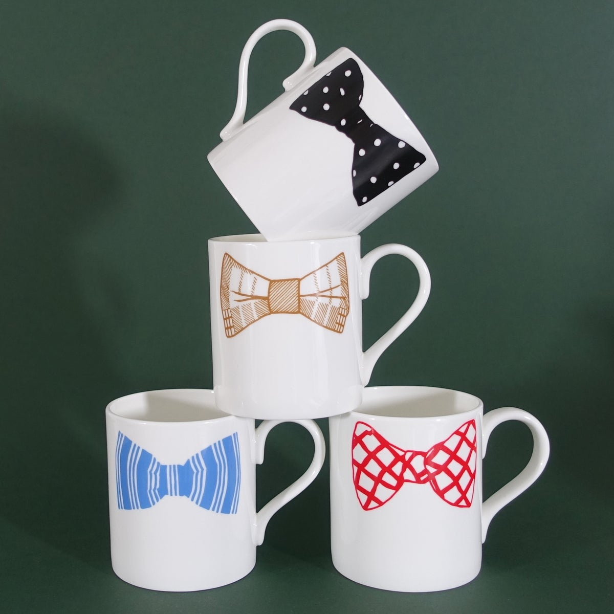 Image of Original Bow Tie Mugs - Set of 4