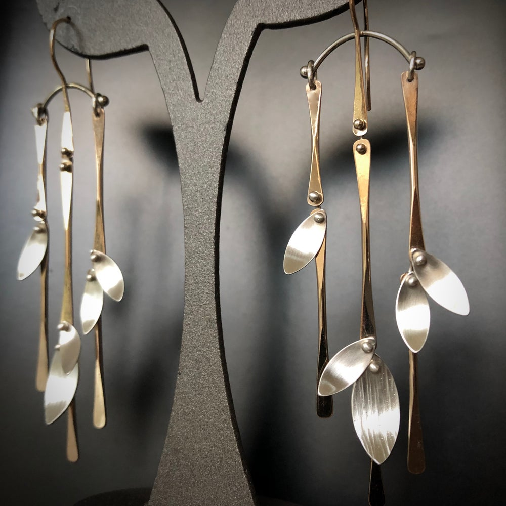 Image of Bamboo Forest Chandelier Earrings