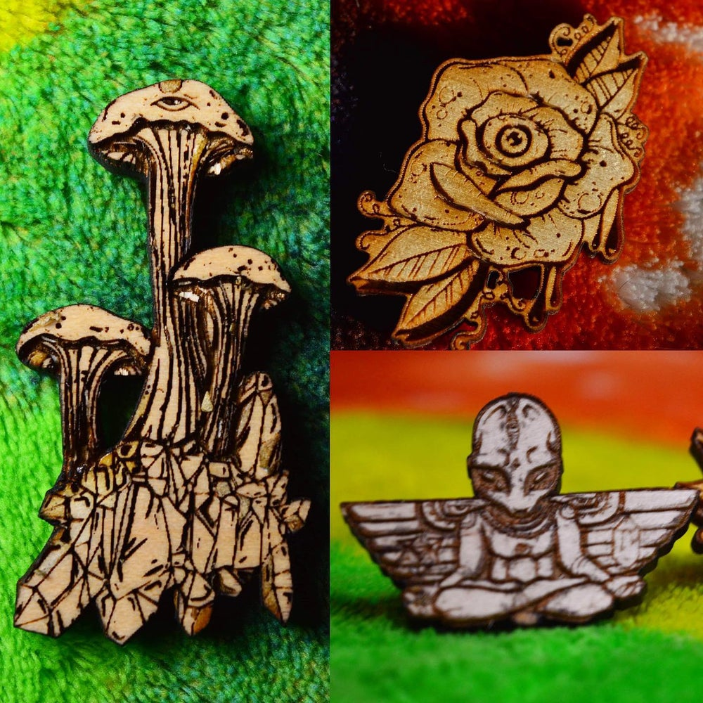 Image of Presale wood pins