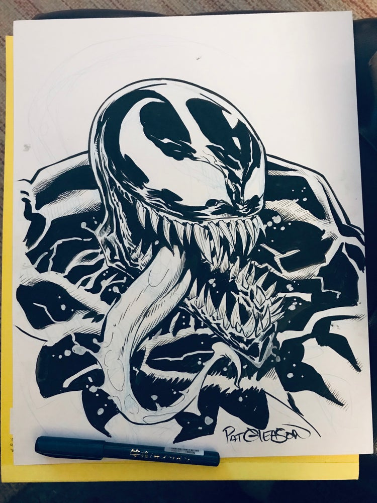 Image of LARGE VENOM/EDDIE BROCK ARTWORK
