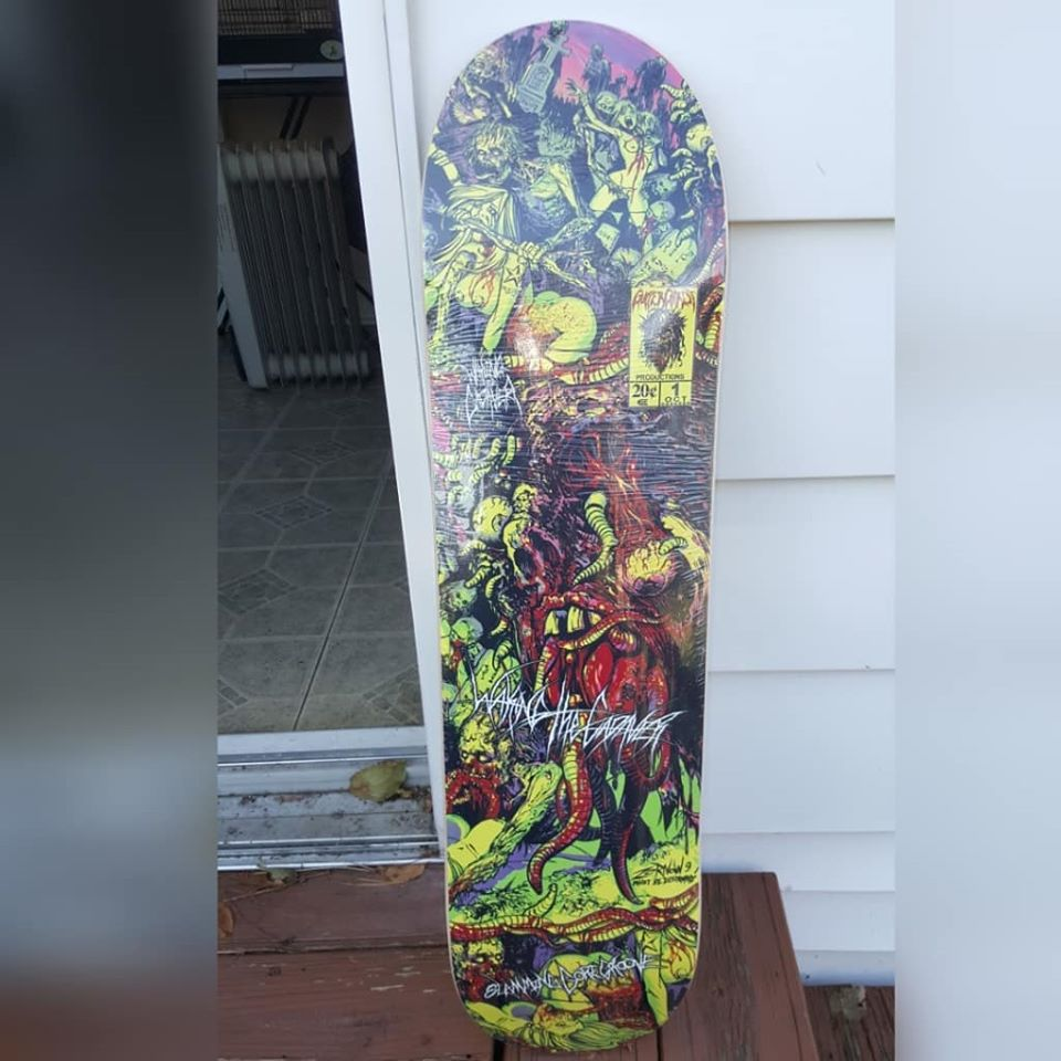 Image of WAKING THE CADAVER SKATE DECK (IN STOCK)