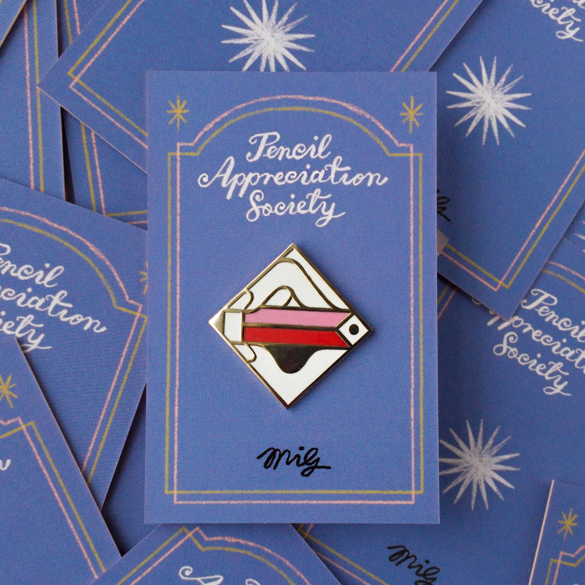 Image of Pencil Appreciation Society - enamel pin badge