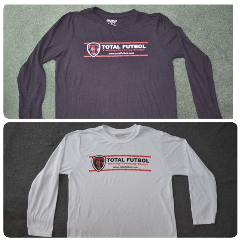 Image of Black or White Long-Sleeve TF Training Shirt