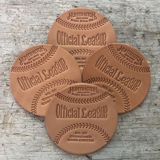 Image of Veg Tan Baseball Coasters (Singles)