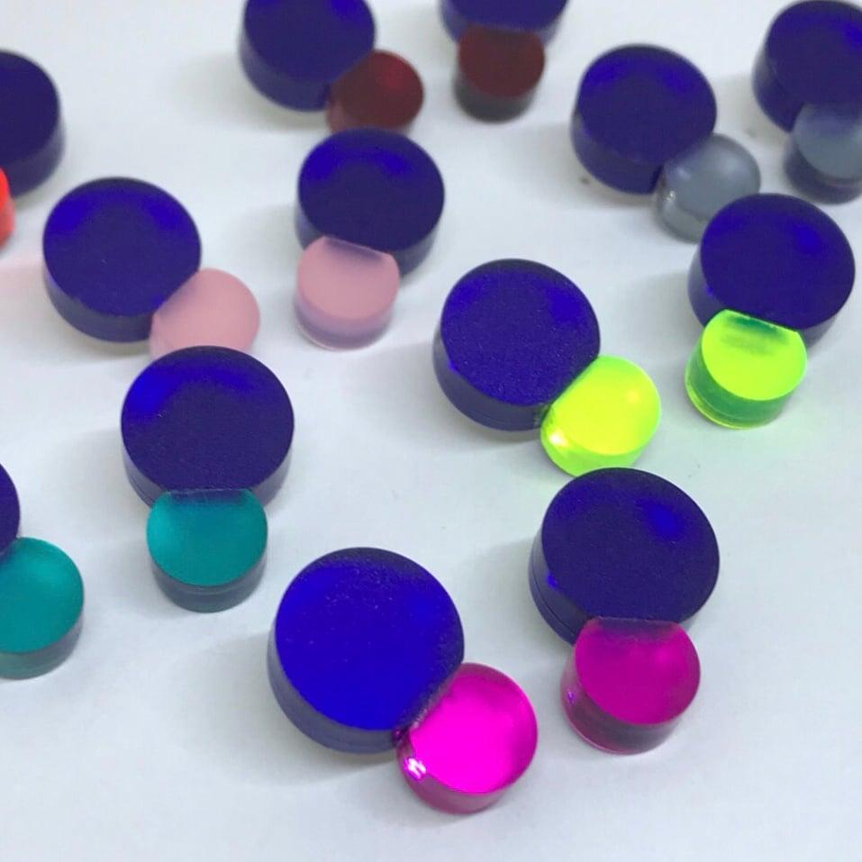 Image of Náušnice Bubbles blue & color