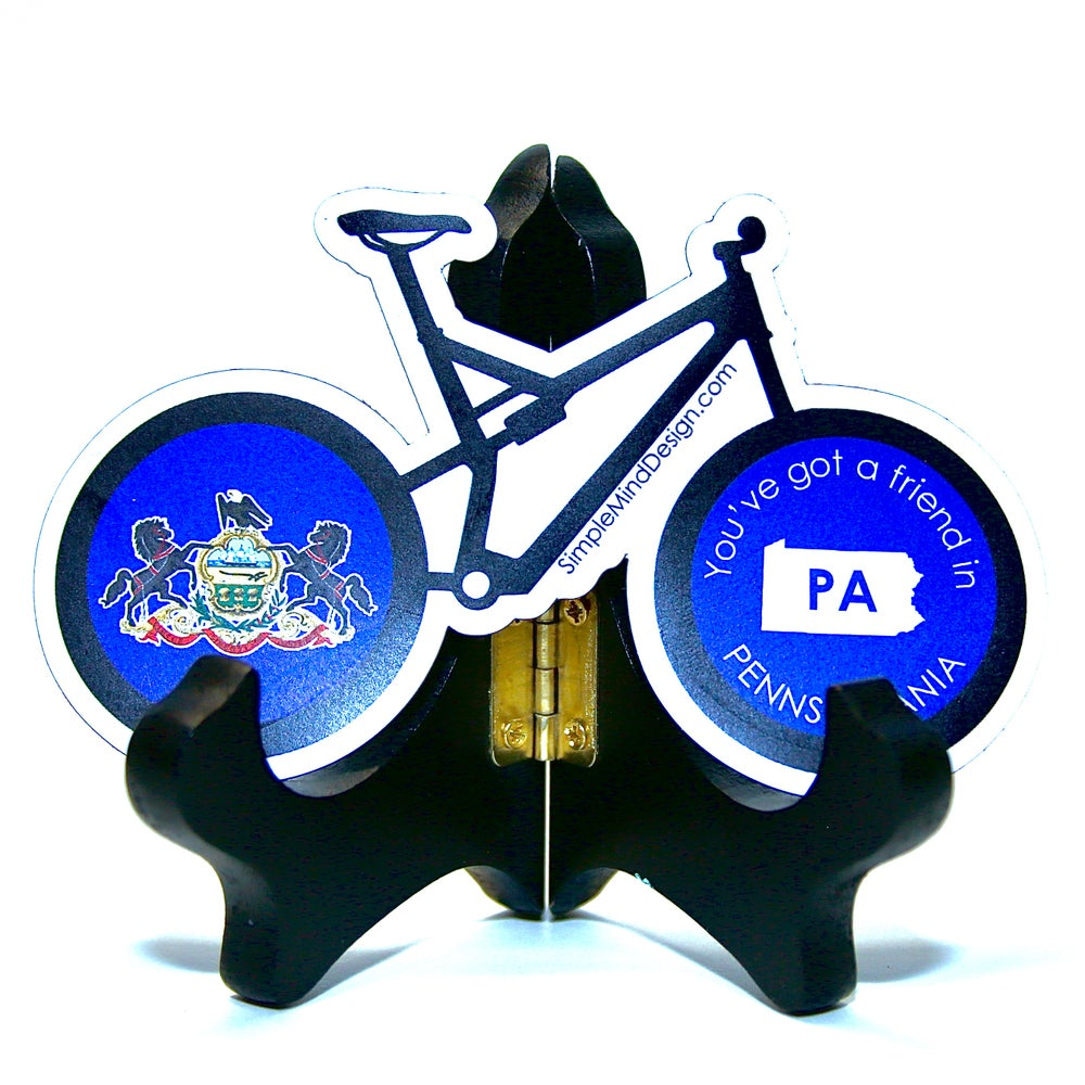 Image of Pennsylvania Mountain Bike Magnet