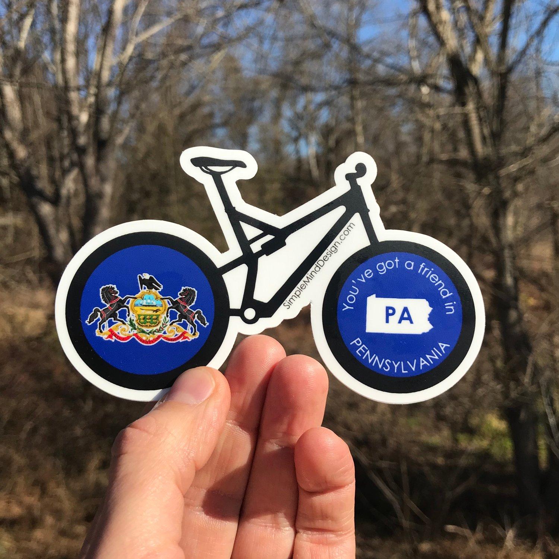 Image of Pennsylvania Mountain Bike Magnet