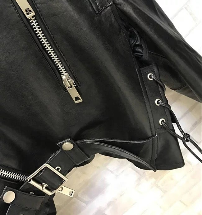 Image of The Asia Leather Coat