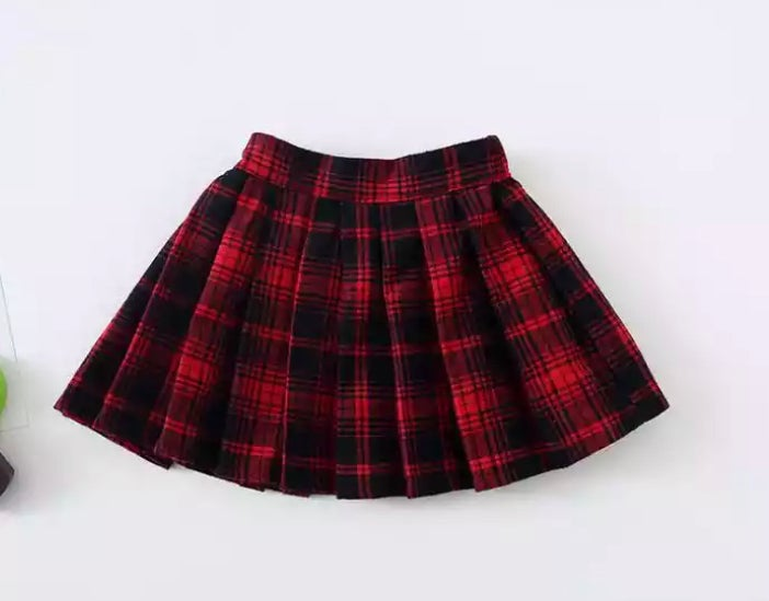 Image of School girl skirt