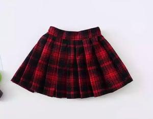 Image of School girl skirt
