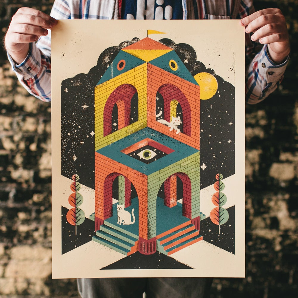 Image of Space Cathedral Art Print