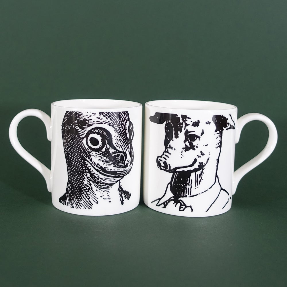 Image of Prussian Head Mugs  - Set of 2