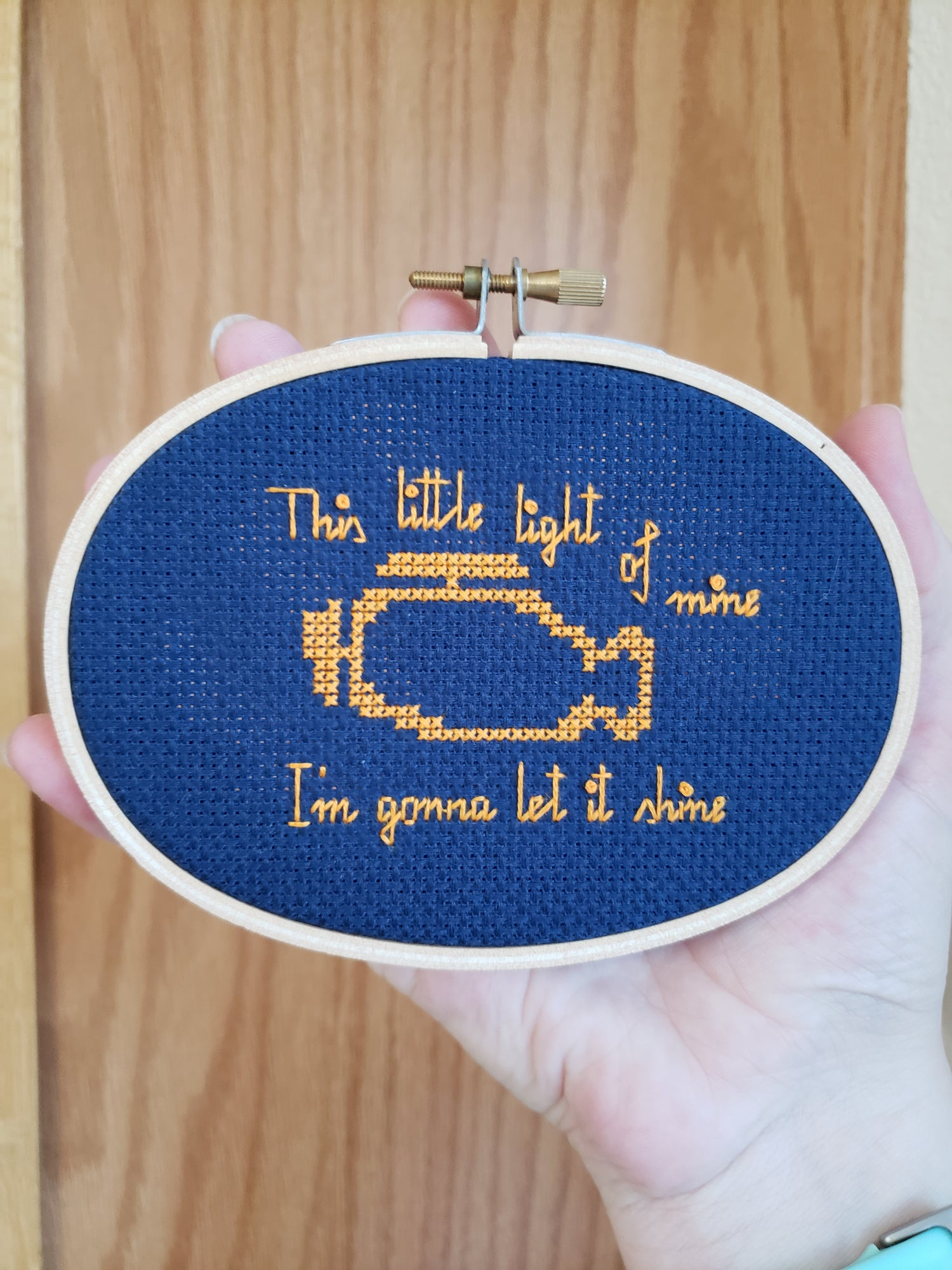 Image of This Little Light of Mine Cross Stitch PATTERN PDF