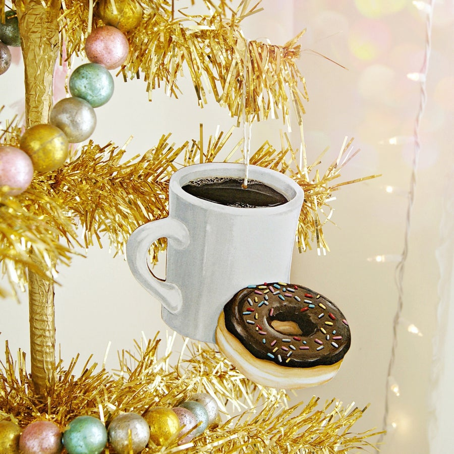 Image of Coffee & Donut Ornament